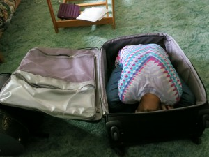 lydia in the suitcase