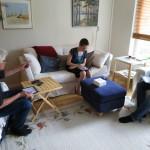 three relatives, three iPads