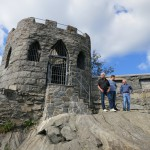 mini castle at the top of the hill