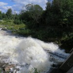 water over the dam at the site of the old iron works