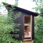 sauna from the outside
