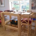 solid ash Italian violin-making workbench