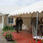 special tent for the reception, Olav Johansson & Emilia Amper serenade