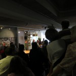 a glimpse of the museum dedication, after the crowd thinned