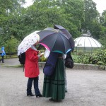 fiddlers in the rain