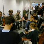 hallway session (mostly the Norwegian group, i think)