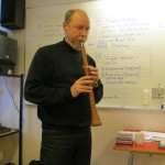 Magnus plays his näverskalmeja (a birch-bark shawm/clarinet)
