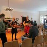 Olov coaching the super-tricky finnskogspols trio
