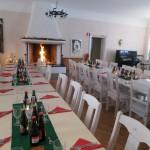 tables set, token fire