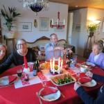 festive birthday dinner